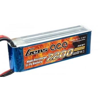 Bateria LiPo 3S 2200mAh 11.1V XT-60 25C Gens Ace - Phantom 1