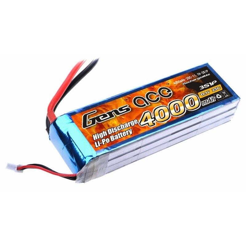 Bateria LiPo 3S 4000mAh 11.1V 25C Gens Ace