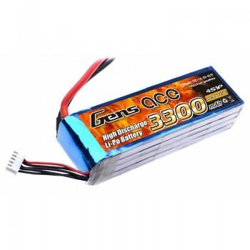 Bateria LiPo 3300mAh 14.8V 25C 4S1P Gens Ace
