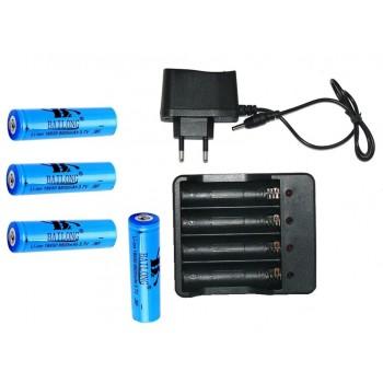 Ładowarka + 4 baterię 18650