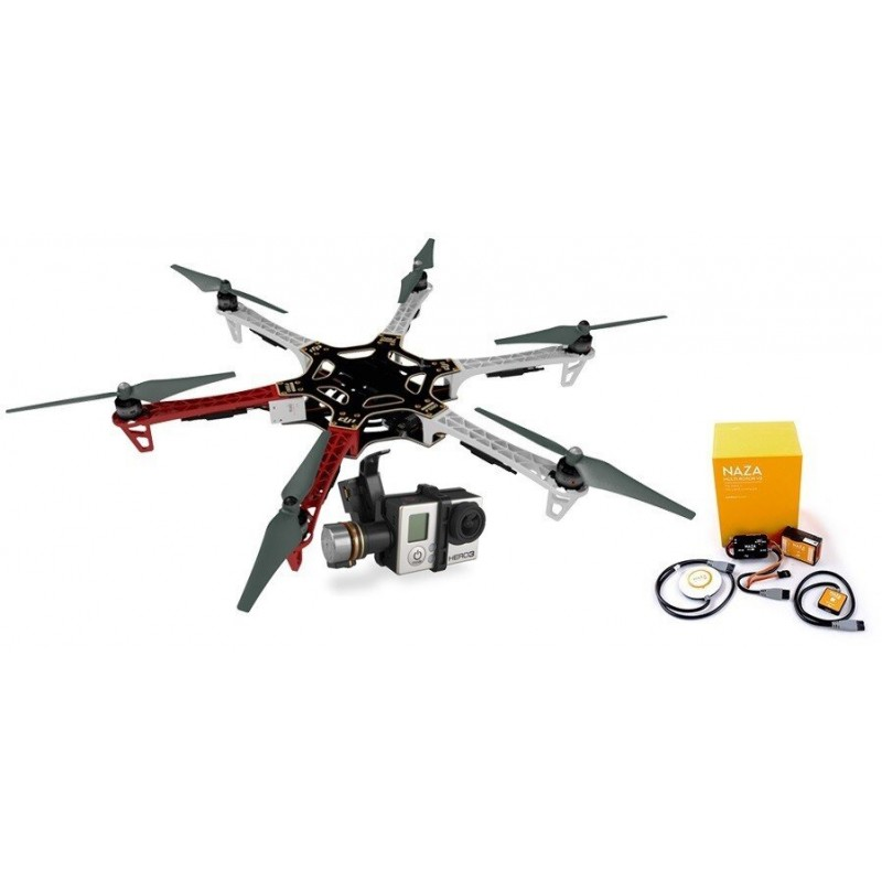 F550 + NAZA-M V2 + GPS + Gimbal H3-3D + Podwozie
