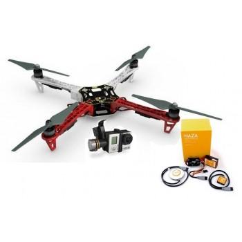 F450-E305 + NAZA-M V2 + GPS + Gimbal H3-3D + Podwozie