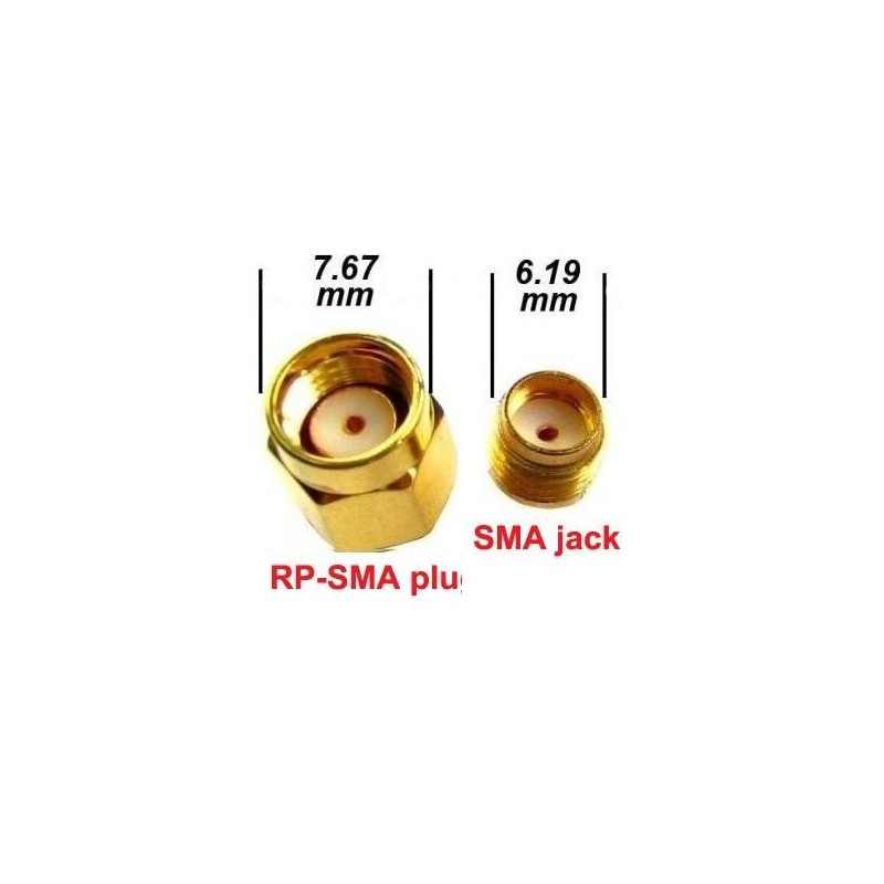 Złącze - redukcja RP-SMA plug na SMA jack
