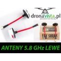 Anteny 5.8 Ghz Immersion RC/FatShark kołowe lewej polaryzacji
