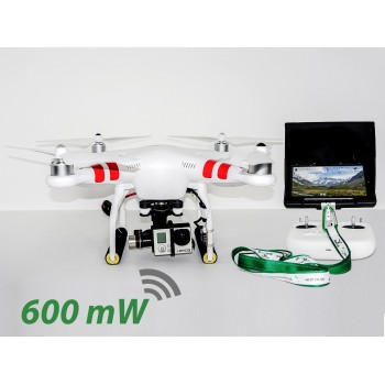 "DJI Phantom 2 v2 H3-3D FPV 7"" iOSD 600mW - Ready to Fly!"