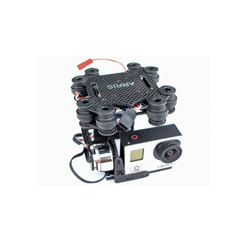 Bezszczotkowy Gimbal Ariss CM2000 2-osiowy pod GoPro 3