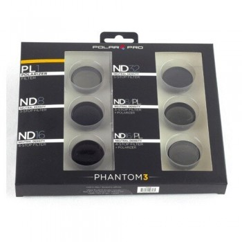 Filtry do Phantom 3 (6 pack - 1 PL i 5 ND) - Polar Pro