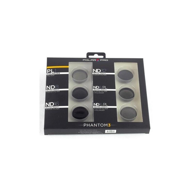 Filtry do Phantom 3 (6 pack - 1 PL i 5 ND) - Polar Pro