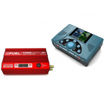 Battery Charge iCharger 308duo + DC 1200W Power Supply eFuel