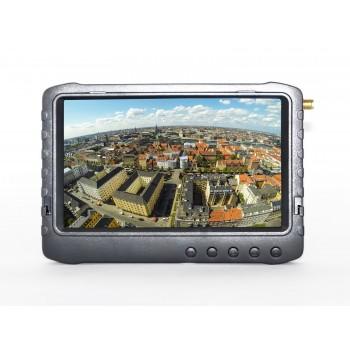 """Monitor FPV 5"""" z Nagrywarką DVR 5,8GHz - 32 kanały (Czarny)"""