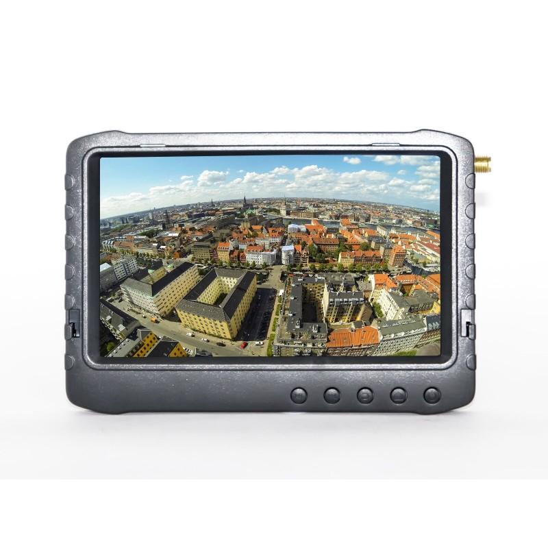 """Monitor FPV 5"""" z Nagrywarką PVR 5,8GHz - Pasmo F (Biały)"""