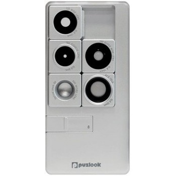 PUZLOOK BASIC Obudowa z optycznym obiektywem dla iPhone 5 Srebrna