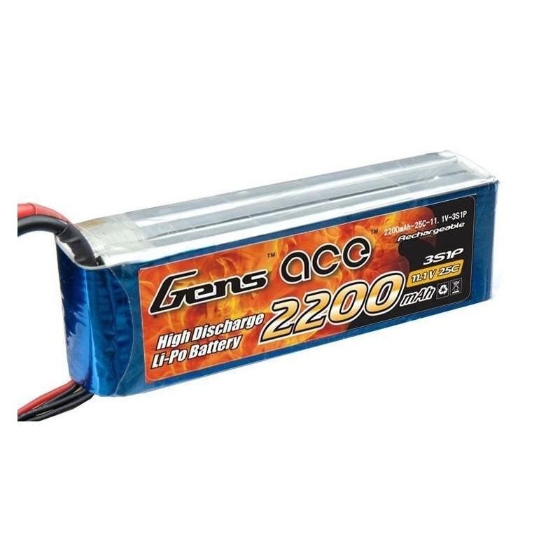 Bateria LiPo 2200mAh 11.1V 25C Gens Ace