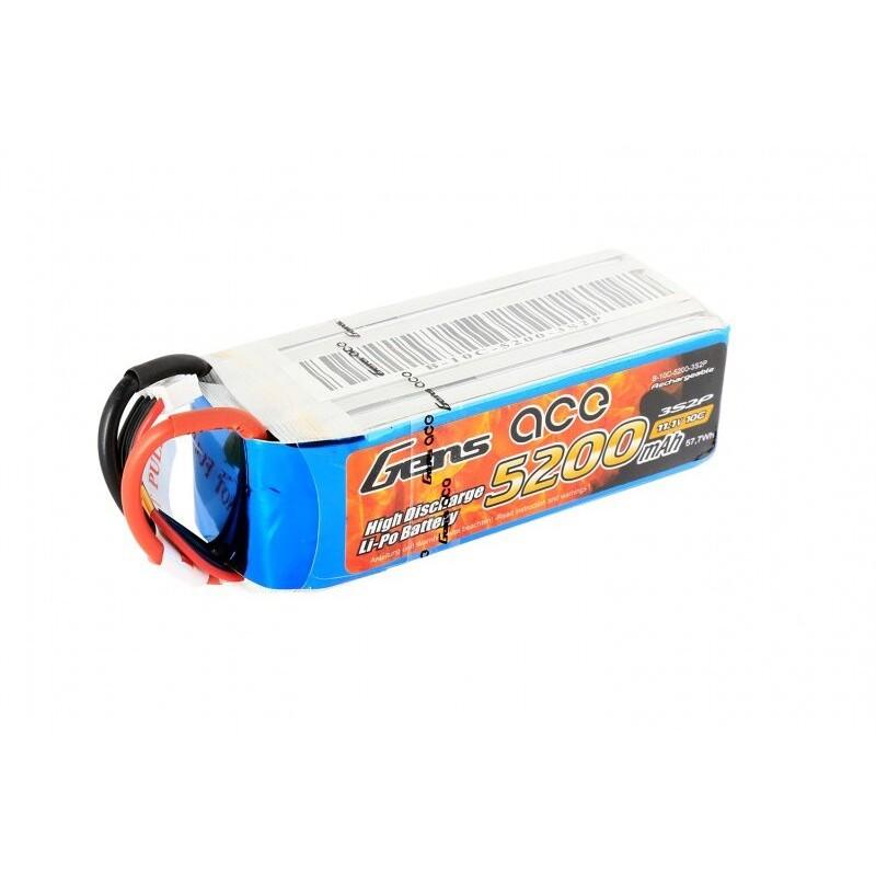 Bateria LiPo 3S 5200mAh 11.1V 10C Gens Ace