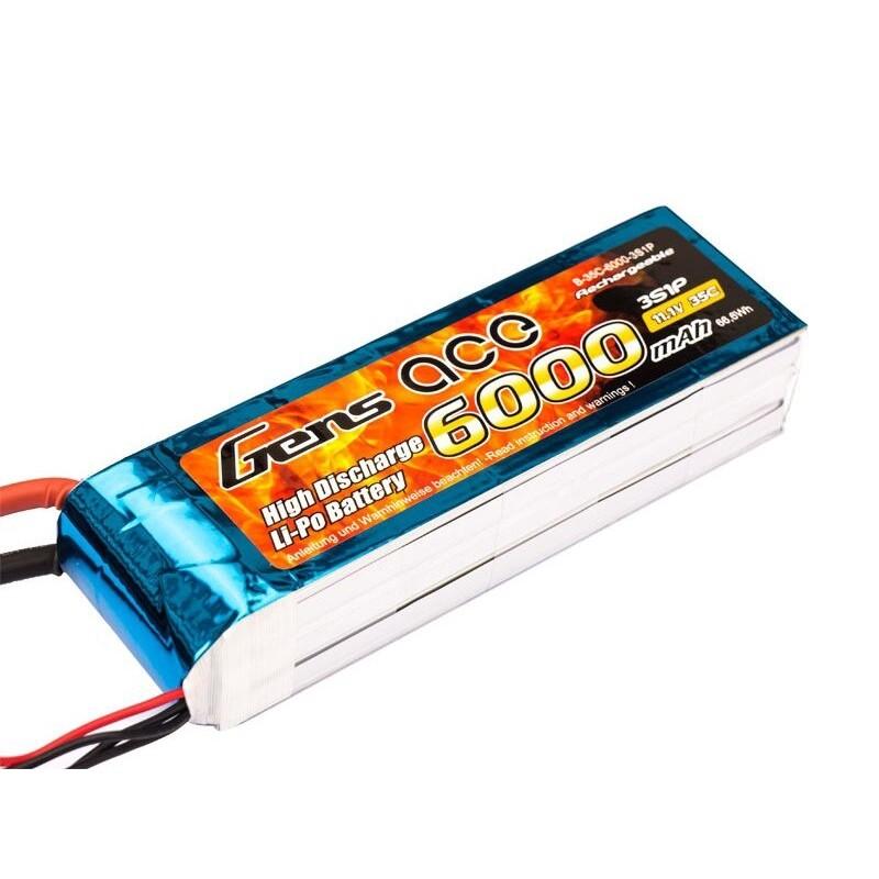 Gens ace 2500mAh 11.1V 25C 3S1P Lipo Battery