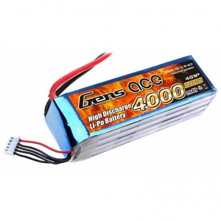 Bateria LiPo 4000mAh 14.8V 25C 4S1P Gens Ace