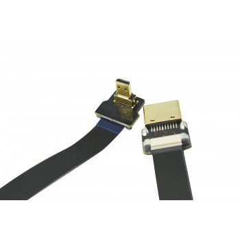 Ultra Thin Micro HDMI to Standard HDMI Flat Ribbon Cable 50cm - Pilotfly