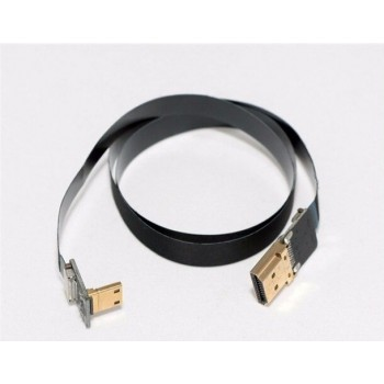 Ultra Thin Mini HDMI to Standard HDMI Flat Ribbon Cable 50cm - Pilotfly