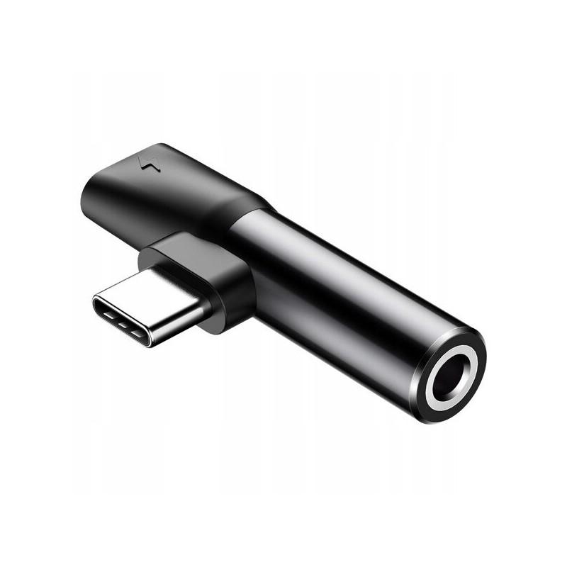 Adapter Audio Baseus USB Typ C do Mini Jack 3.5mm i USB Type C