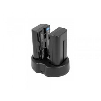 Zestaw ładowarka dwukanałowa Newell SDC-USB i dwa akumulatory NP-F570 do monitorów podglądowych i lamp LED
