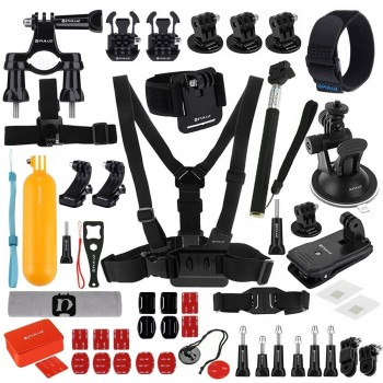 PULUZ PKT09 53 in 1 Mount Screw with Case Combo Kit for Action Sport Camera
