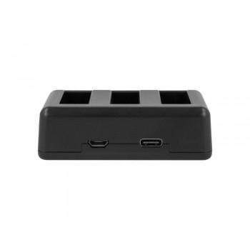 Ładowarka trójkanałowa Newell SDC-USB do akumulatorów AABAT-001