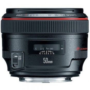 Obiekty Canon 50mm F/1.2 L EF USM - 1
