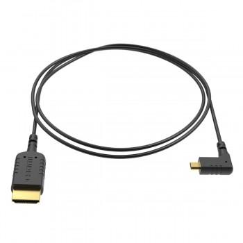 Ultracienki kabel kątowy HDMI - Micro HDMI 40cm - 8SINN - 1