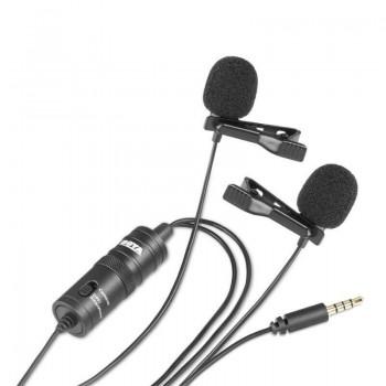 Podwójny mikrofon krawatowy BOYA BY-M1DM dla urządzeń mobilnych z jack 3,5mm - 1