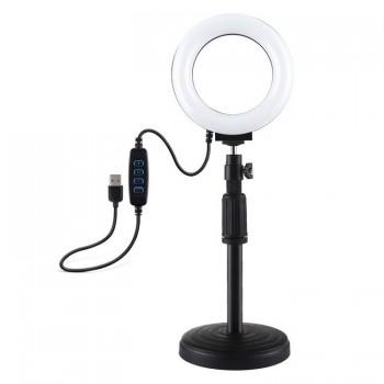 Lampa pierścieniowa LED z regulowaną podstawką Puluz - 1