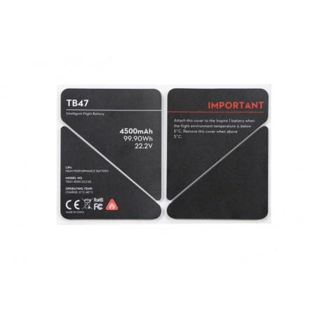 Naklejka termoizolacyjna baterii TB47 - Inspire 1