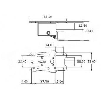 Serwomechanizm TL65B43 do podwozia elektrycznie składanego - 3