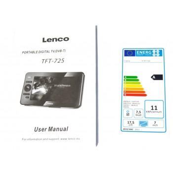 """Monitor LCD 7"""" LENCO TFT-725 - 5"""