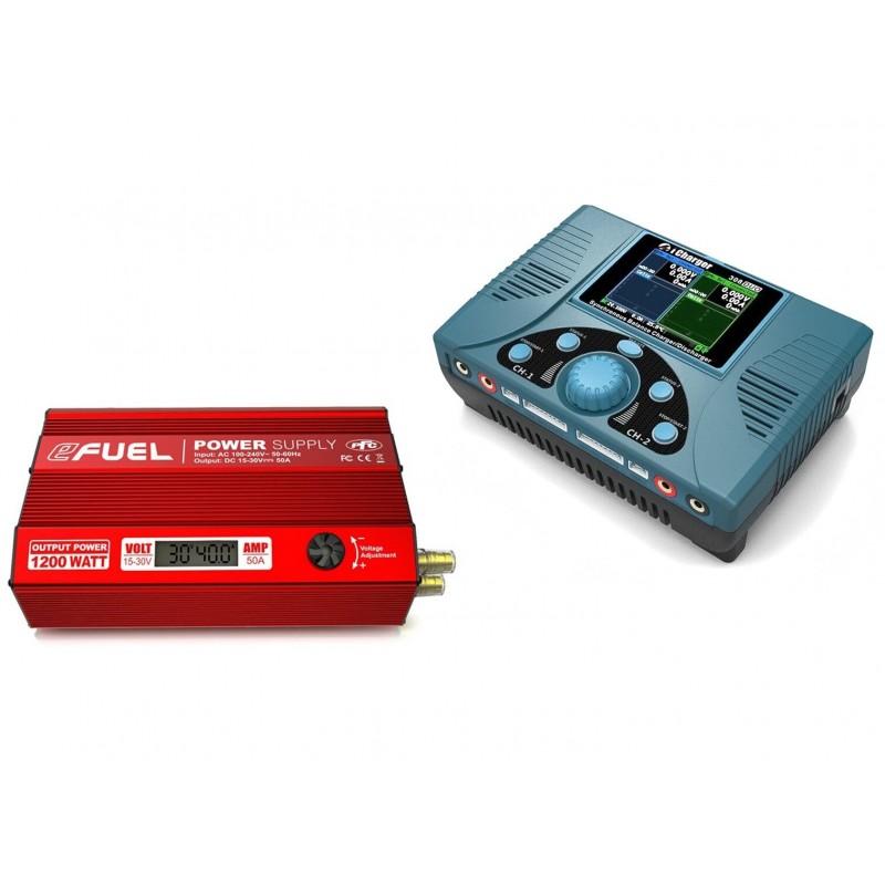 Ładowarka iCharger 308duo z zasilaczem regulowanym eFuel 1200W