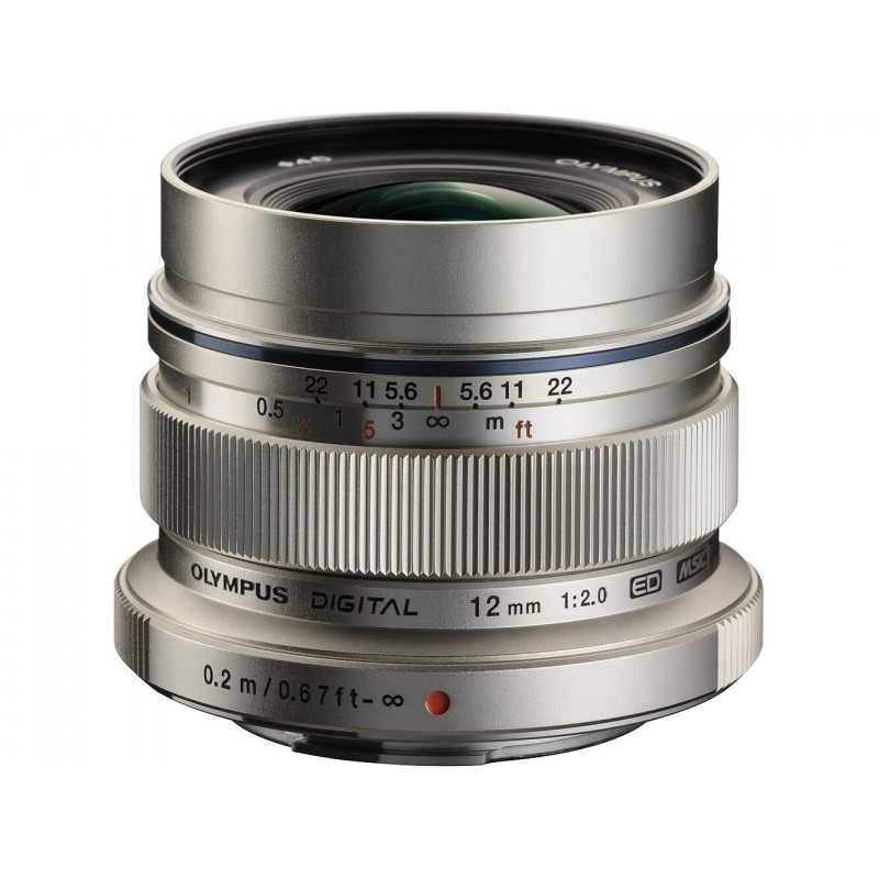 Obiektyw Olympus M.ZUIKO DIGITAL ED 12mm 1:2.0 Srebrny