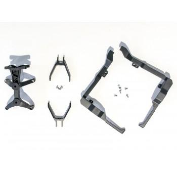 Lewy i prawy zacisk kabli + mocowanie pokrywy przedniej (nos) - Inspire 1