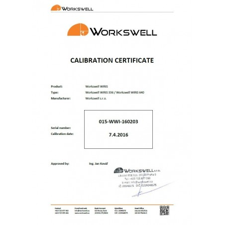 Calibration and maintenance Workswell WIRIS