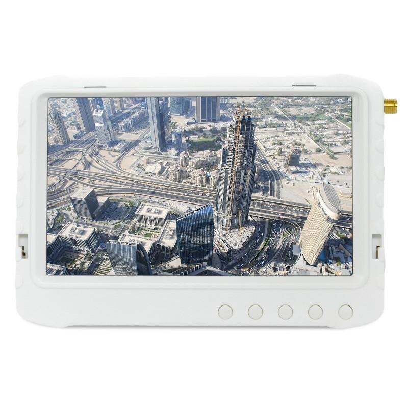 """Monitor FPV 5"""" z Nagrywarką DVR 5,8GHz - Pasmo F (Biały)"""