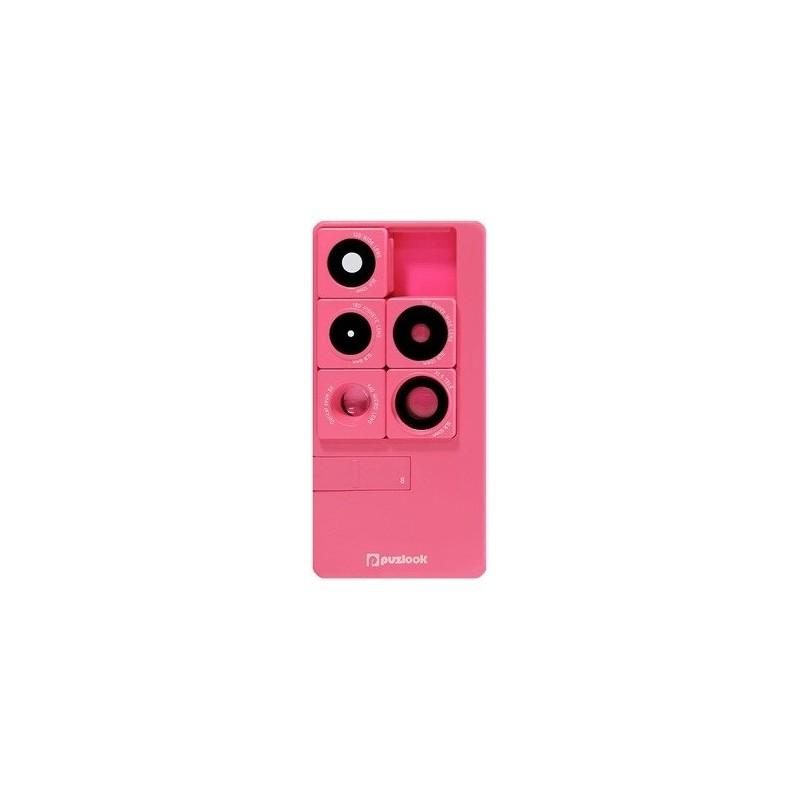 PUZLOOK BASIC Obudowa z optycznym obiektywem dla iPhone 5 Różowa