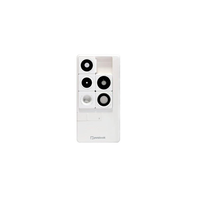 PUZLOOK BASIC Obudowa z optycznym obiektywem dla iPhone 5 Biała